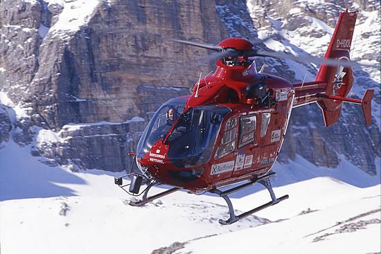 Elicottero Ortisei : Descrizione elicottero aiut alpin dolomites soccorso